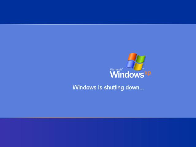 Windows XP Shutting Down